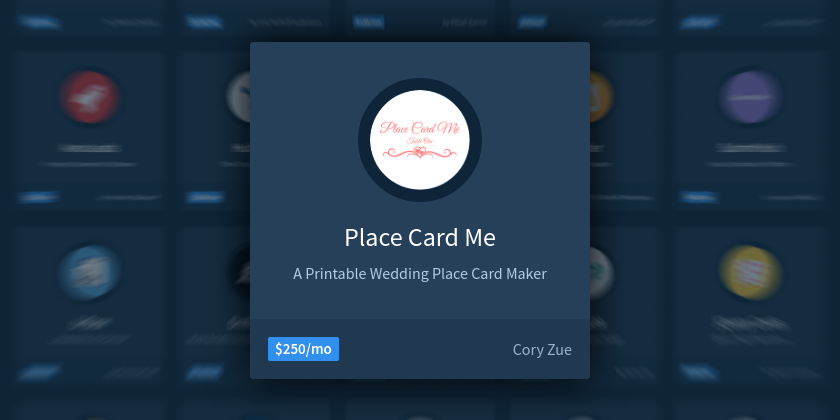 How To Grow A Wedding Place Card Business To Mo Indie Hackers - Place card maker