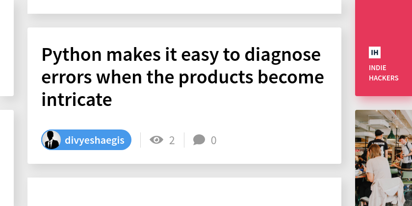 Python makes it easy to diagnose errors when the products