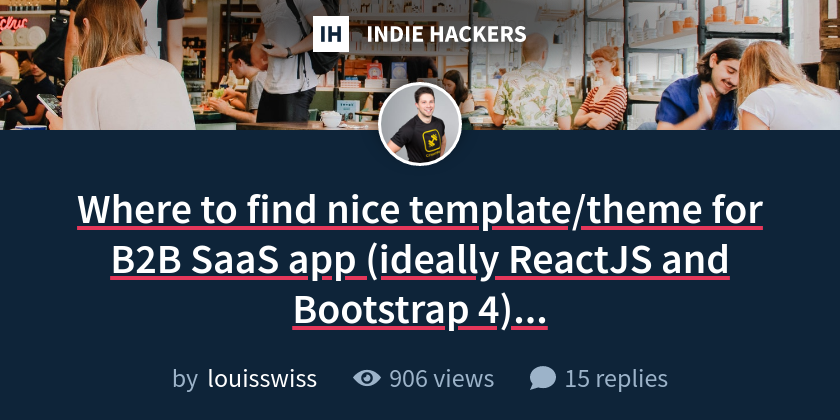 Where to find nice template/theme for B2B SaaS app (ideally ReactJS