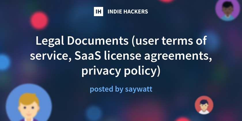 Legal Documents User Terms Of Service Saas License Agreements