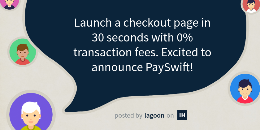 Launch a checkout page in 30 seconds with 0% transaction