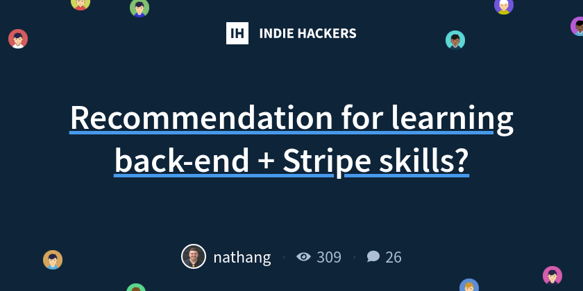 Recommendation for learning back-end + Stripe skills?