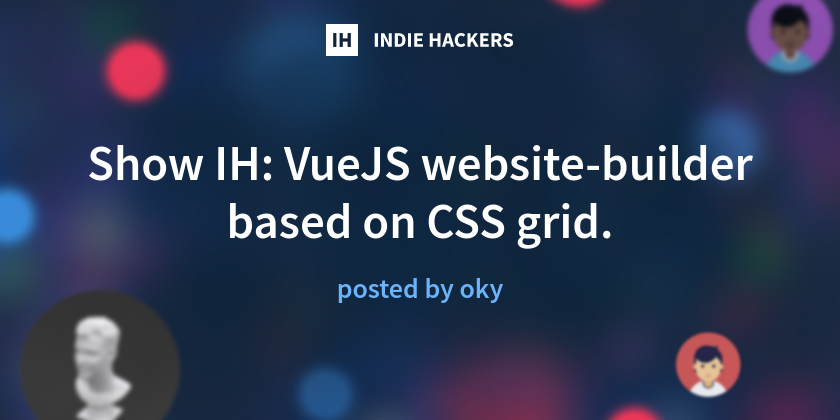 VueJS website-builder based on CSS grid