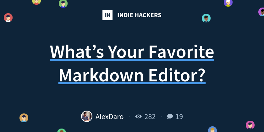 What's Your Favorite Markdown Editor?